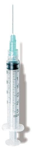 3mL 25G x 5/8″, 3cc Syringe, 25G x 5/8″, Luer Lock