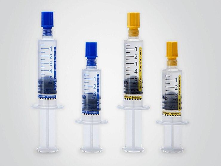 BD PosiFlush Heparin Sodium, Porcine, Preservative Free 100 U / mL Intravenous Solution Prefilled Syringe 5 mL