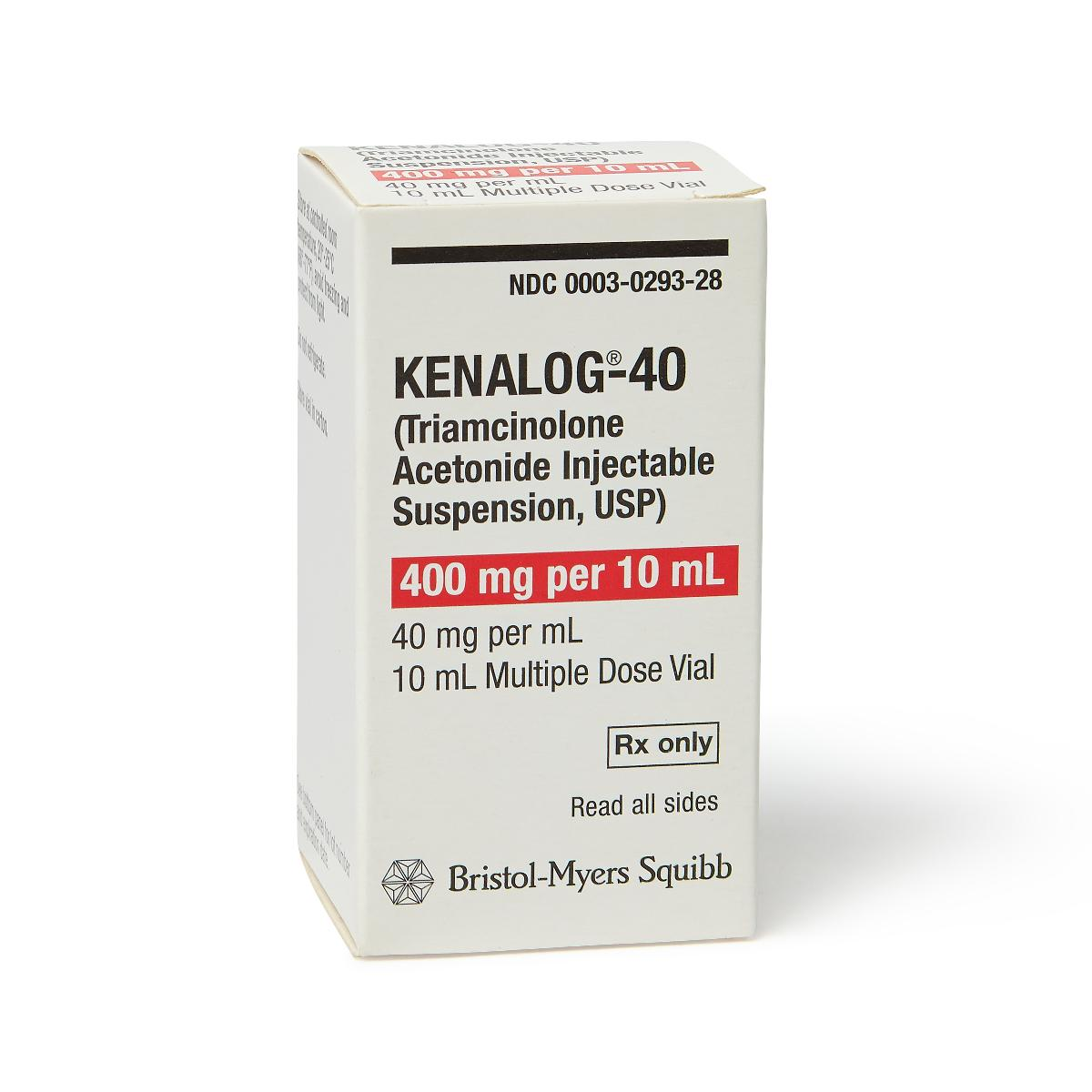 Kenalog®-40 10mL Triamcinolone Acetonide 40 mg / mL Injection Multiple Dose Vial