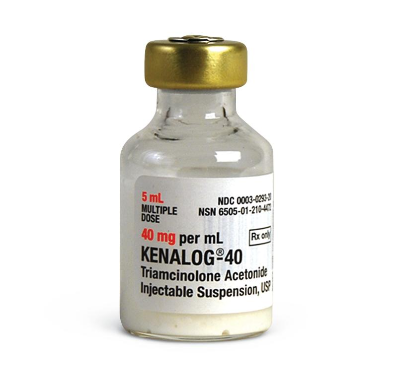 Kenalog®-40 5mL Triamcinolone Acetonide 40 mg / mL Injection Multiple Dose Vial