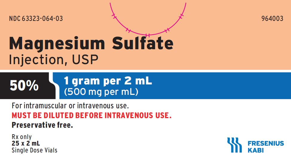 Magnesium Sulfate 50%, 500 mg / mL Single Dose Vial 2 mL