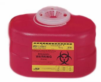 Sharps Container 3.3 Quart Red Funnel Lid