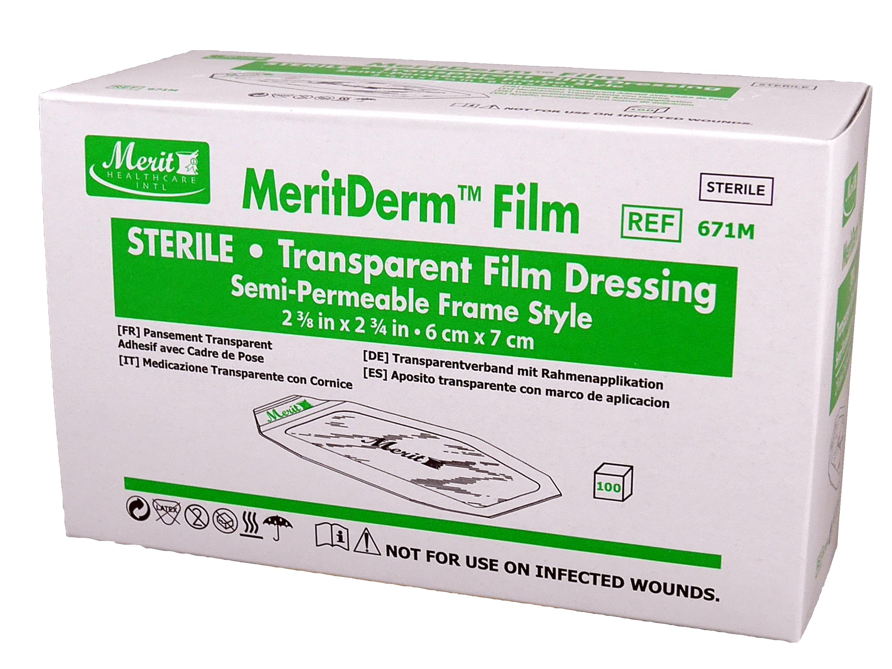 Transparent Film Dressing 2-3/8 X 2-3/4 Inch Frame Style MeriDerm™